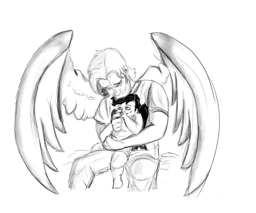979x816 Big Brother Gabriel And Baby Castiel By Watchjanedraw