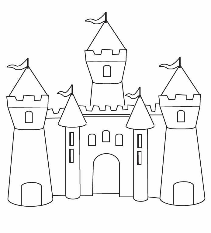 694x769 Castle Drawing Template Basic Castle Cinderellas Castle Princess
