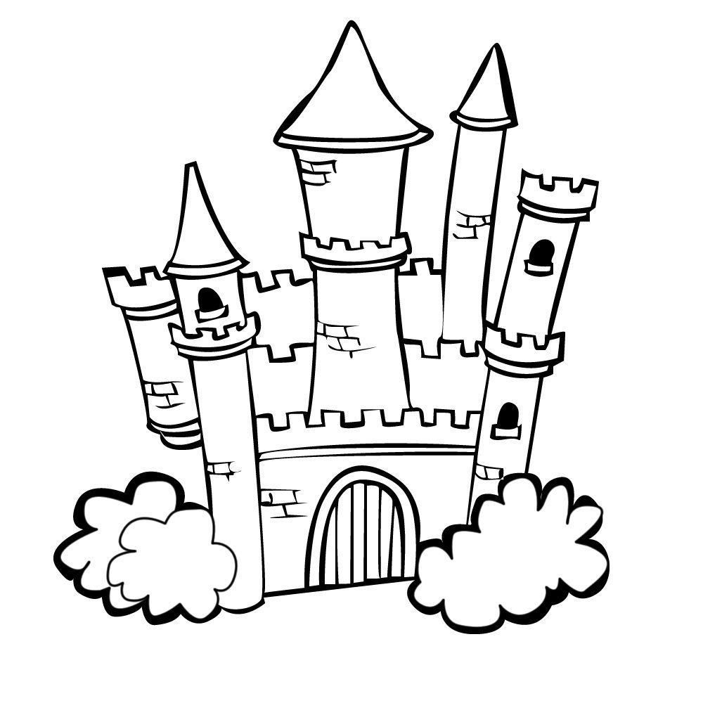 1000x1000 Coloring Pages Castle Colouring Free Pages1