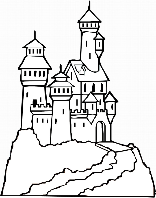 666x844 Castle Coloring Pages Pictures Printable Pinterest Castles