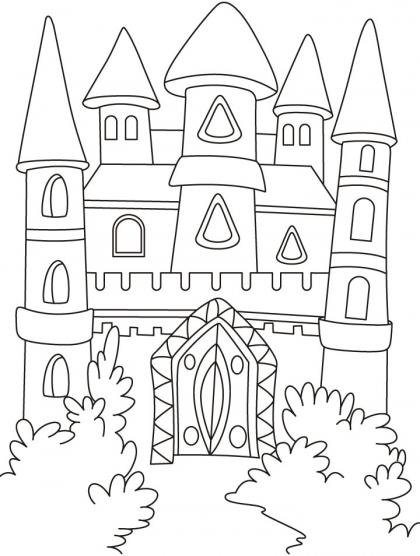 Castle Drawing Kids