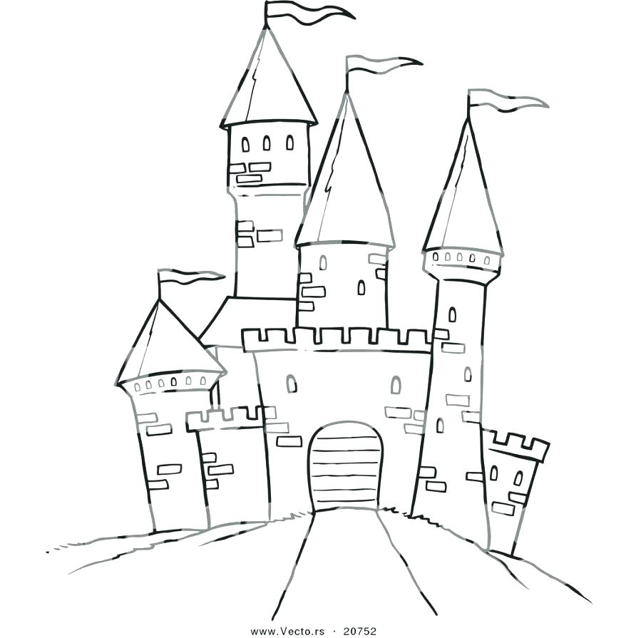 castle drawing outline at getdrawings com free for personal use