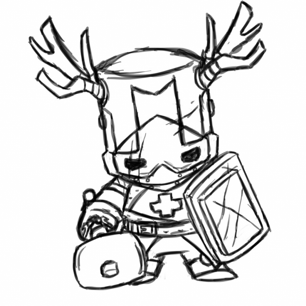 1024x1024 Castle Crashers Drawing How To Draw Castle Crashers Castle