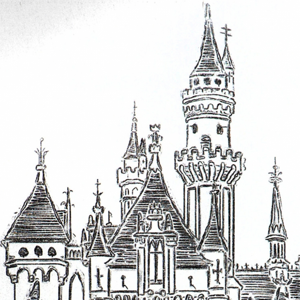 1024x1024 Disney World Castle Drawing Walt Disney World Castle Mjcole