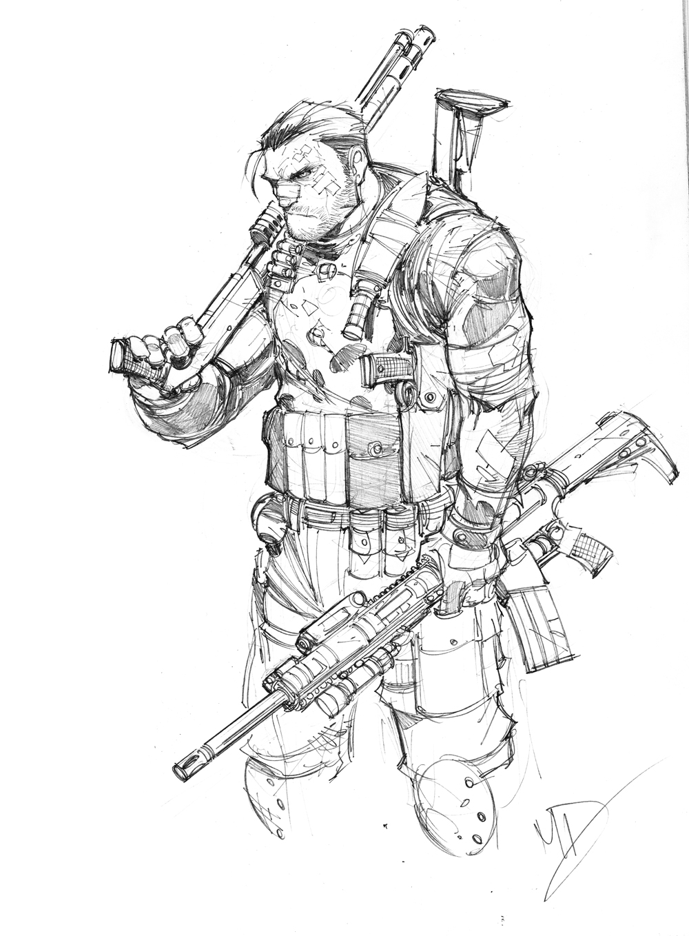 1000x1358 Frank Castle By Max On @ Drawing