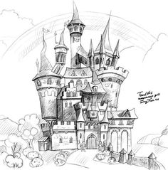 236x239 How To Draw The Neuschwanstein Castle Step By Step. Drawing