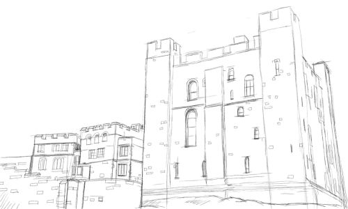 500x300 Image Result For Sketch Of A Castle Inspiration For Diggers