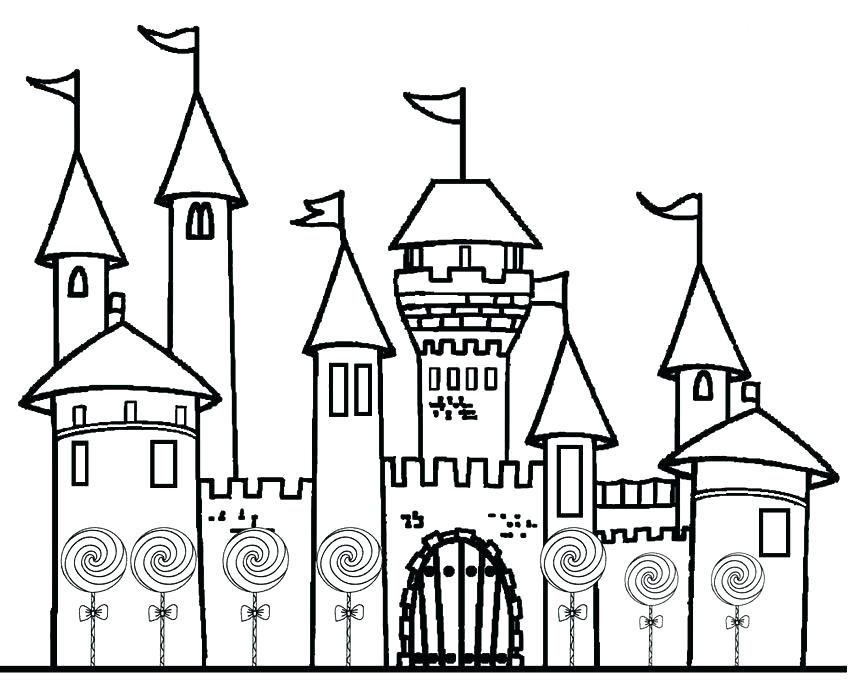 850x689 Princess Castle Coloring Page Castle Coloring Pages Printable