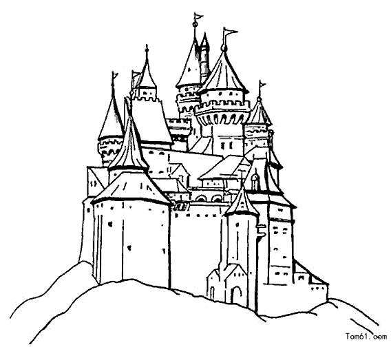 568x504 Castle Clipart Black And White