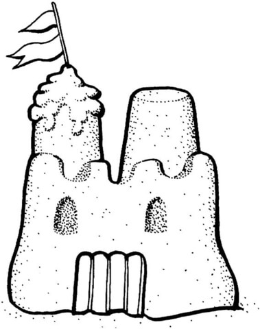 379x480 Sand Castle Coloring Page Free Printable Coloring Pages
