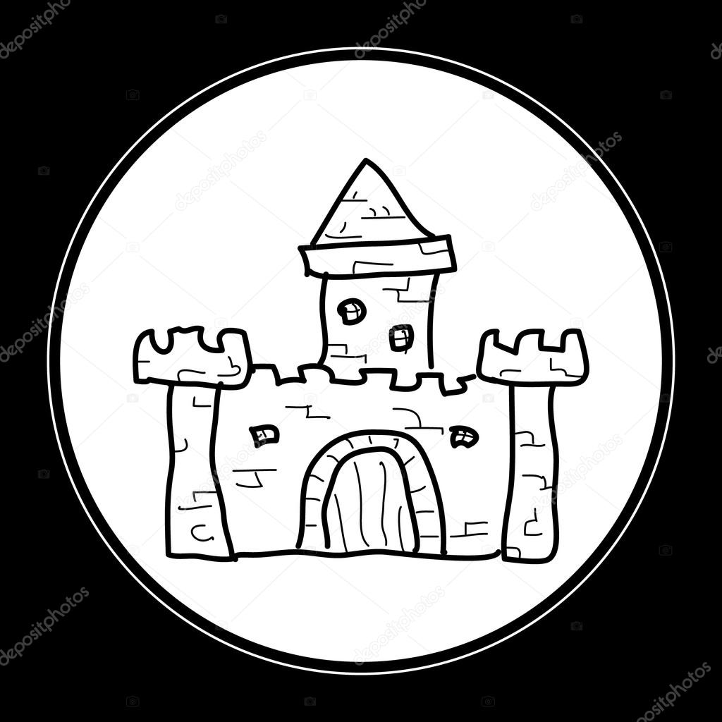 1024x1024 Simple Doodle Of A Castle Stock Vector Chrishall