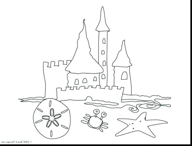 618x470 Castle Color Page Plus Sand Castle Coloring Sheets Pages