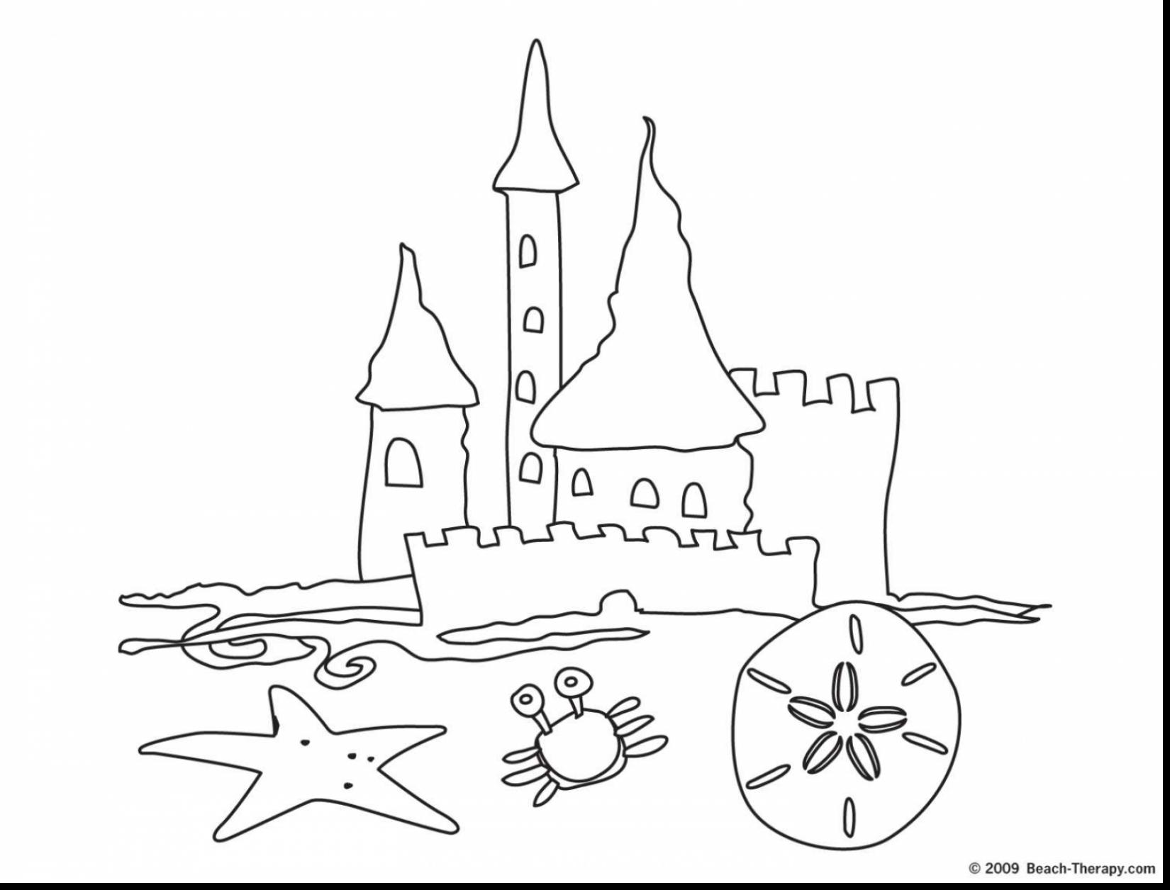 1650x1256 Extraordinary Simple Sand Castle Coloring Pages With Beach