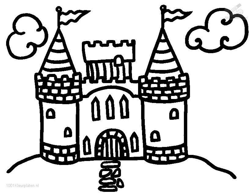 825x635 Castle Pictures To Color