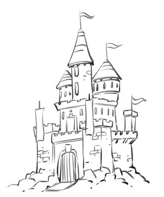 Castle Tower Drawing At Getdrawings Com