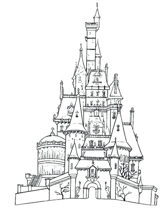 567x728 Cinderella Castle Coloring Pages Castle Coloring Pages Cinderella