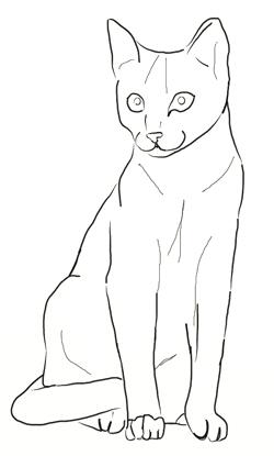 250x415 Drawn Feline
