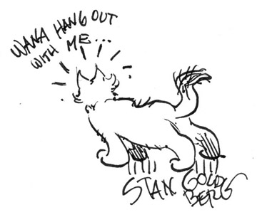 360x312 Mike Lynch Cartoons Cat Sketches From The 2004 Reubens