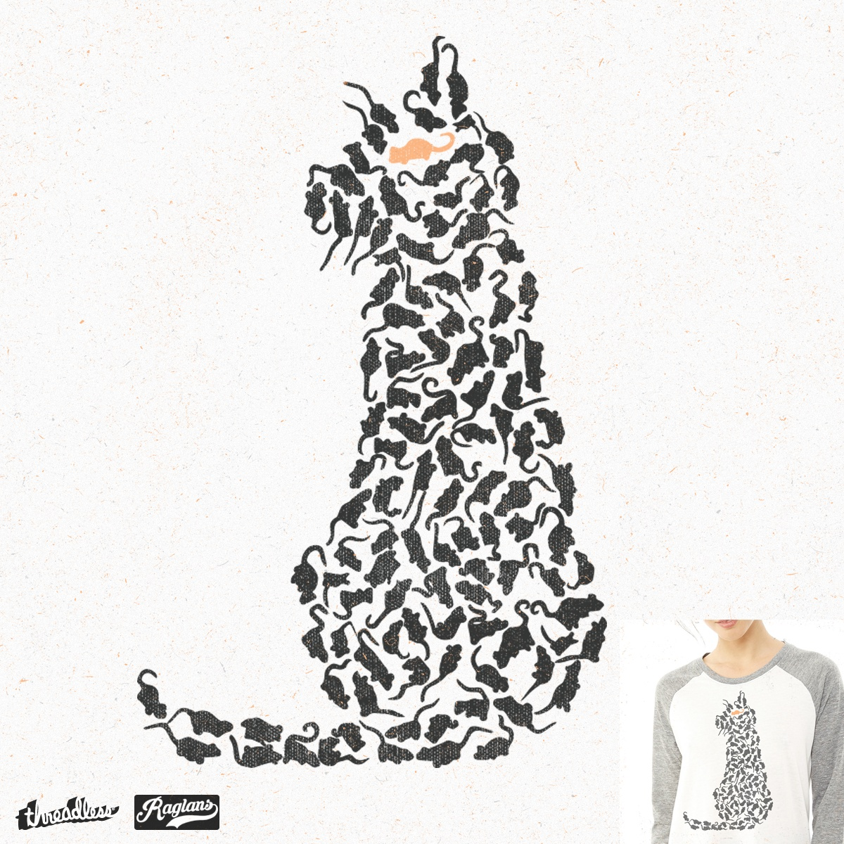 1200x1200 Score Cat And Mouse By Ndtank On Threadless