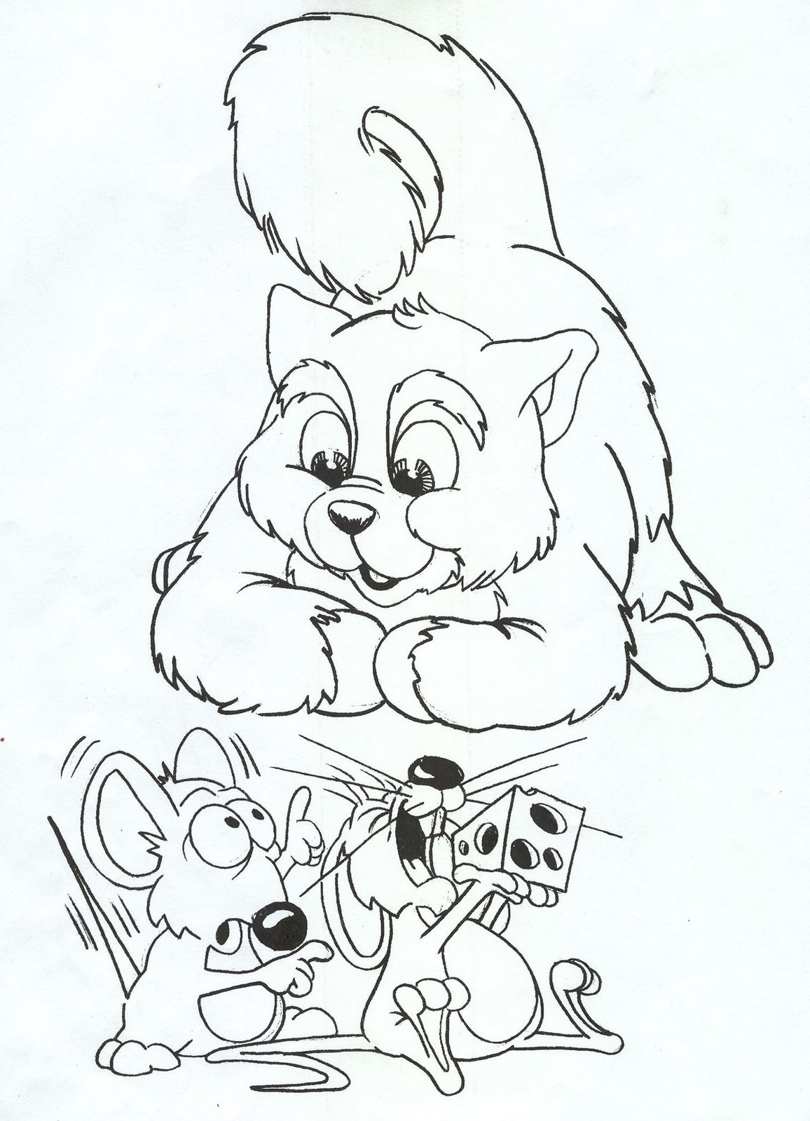 1156x1599 Cat Mice Coloring Pages Embroidery Cat Mouse, Mice