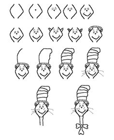 236x290 Another Way To Draw The Cat In The Hat. Fun Art Project For Kids