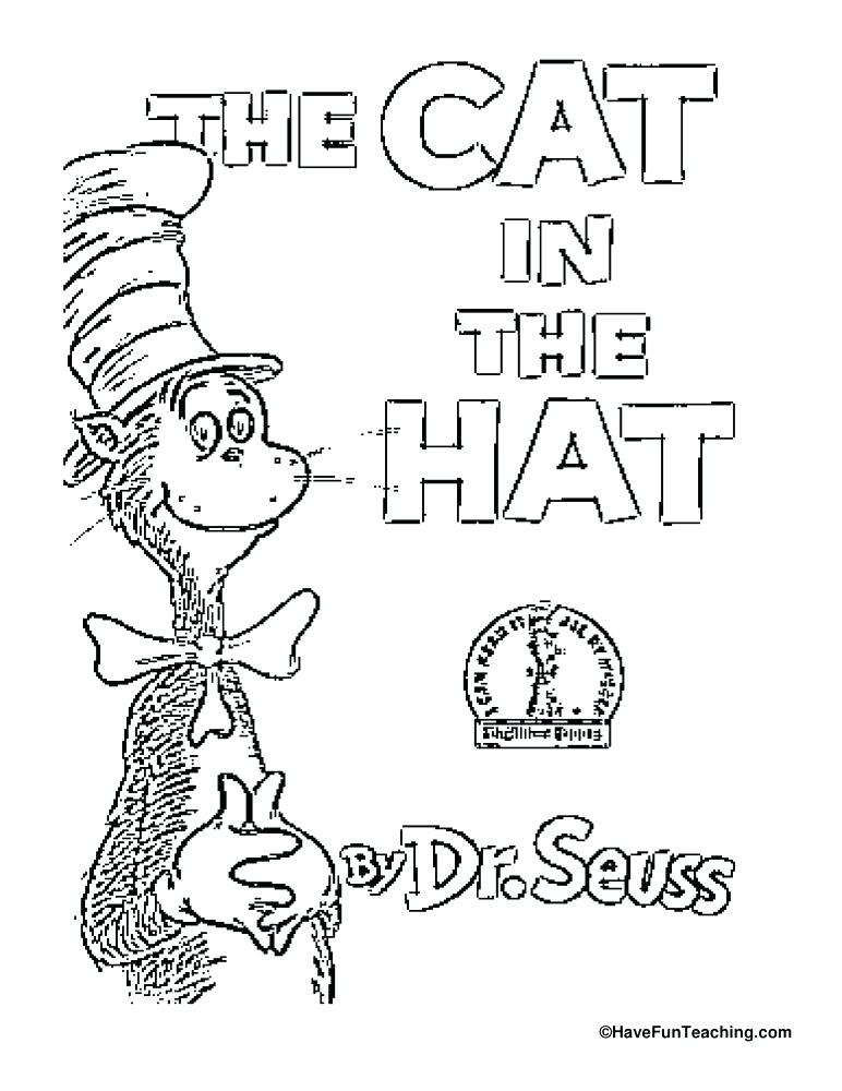 cat in the hat hat coloring page - cat and the hat drawing at free for