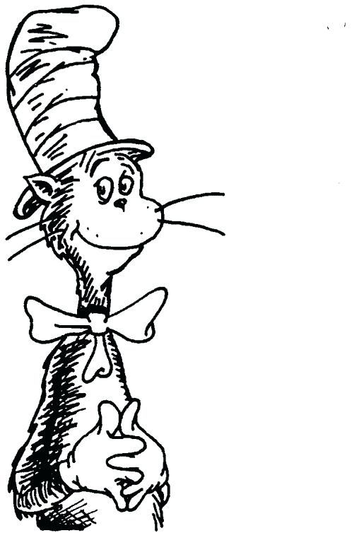 508x754 Cat In The Hat Hat Coloring Page