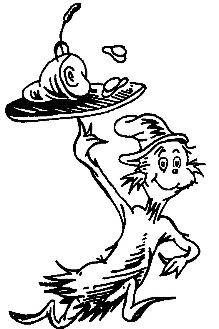 744x1116 Cat In The Hat Hat Coloring Free