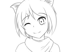 300x210 Anime Cat Girl Drawing