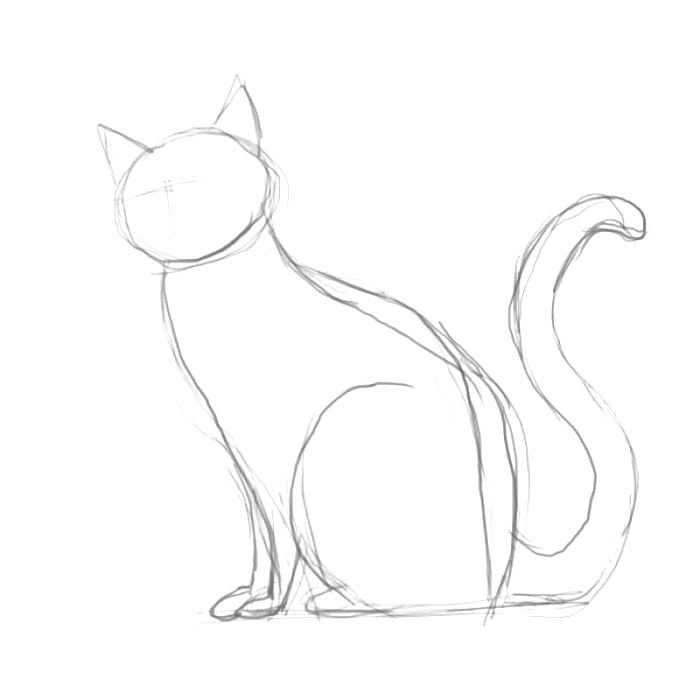 700x700 Black Cat Drawing Ideas For Kids
