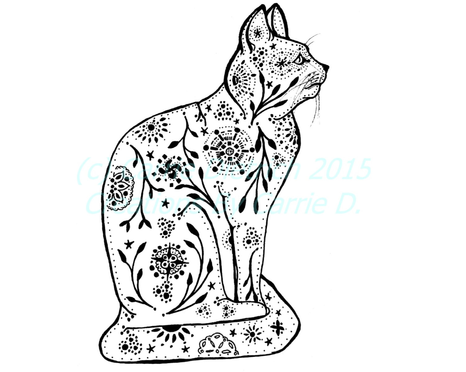1500x1200 Cat Art Cat Drawing Pen And Ink Art Black And White Art