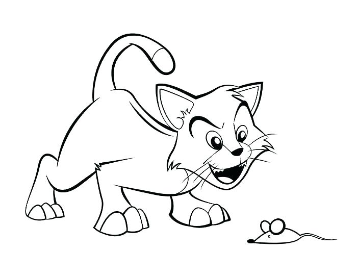 700x541 Coloring Pages Of A Cat Cat Kitten Coloring Pages Cats