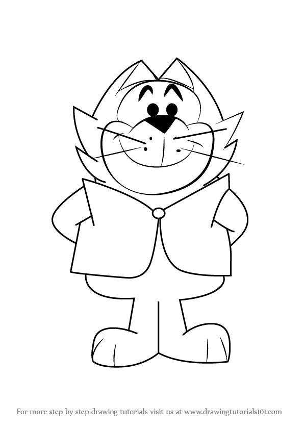 596x843 Learn How To Draw Benny From Top Cat (Top Cat) Step By Step