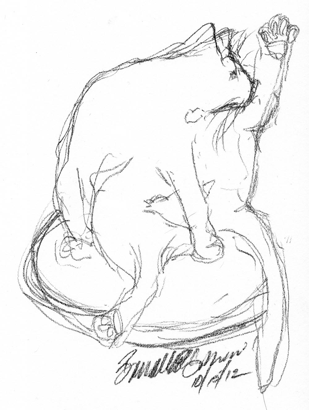1000x1326 Daily Sketch Reprise Beanbath ~ The Creative Cat