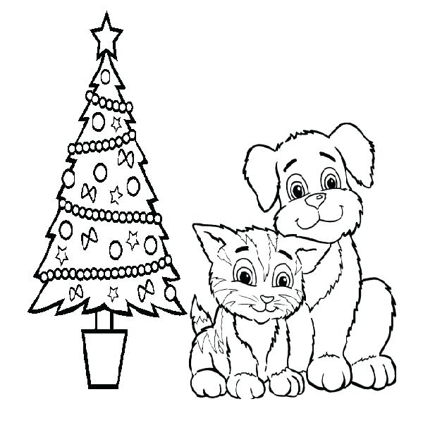600x600 Dog And Cat Coloring Pages Also Dog And Cat Drawing Cat Dog