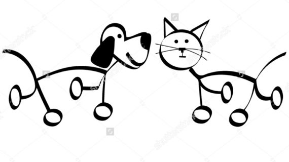 570x320 Drawings Of Dogs And Cats Dogs And Cats Coloring Pages Pets For U