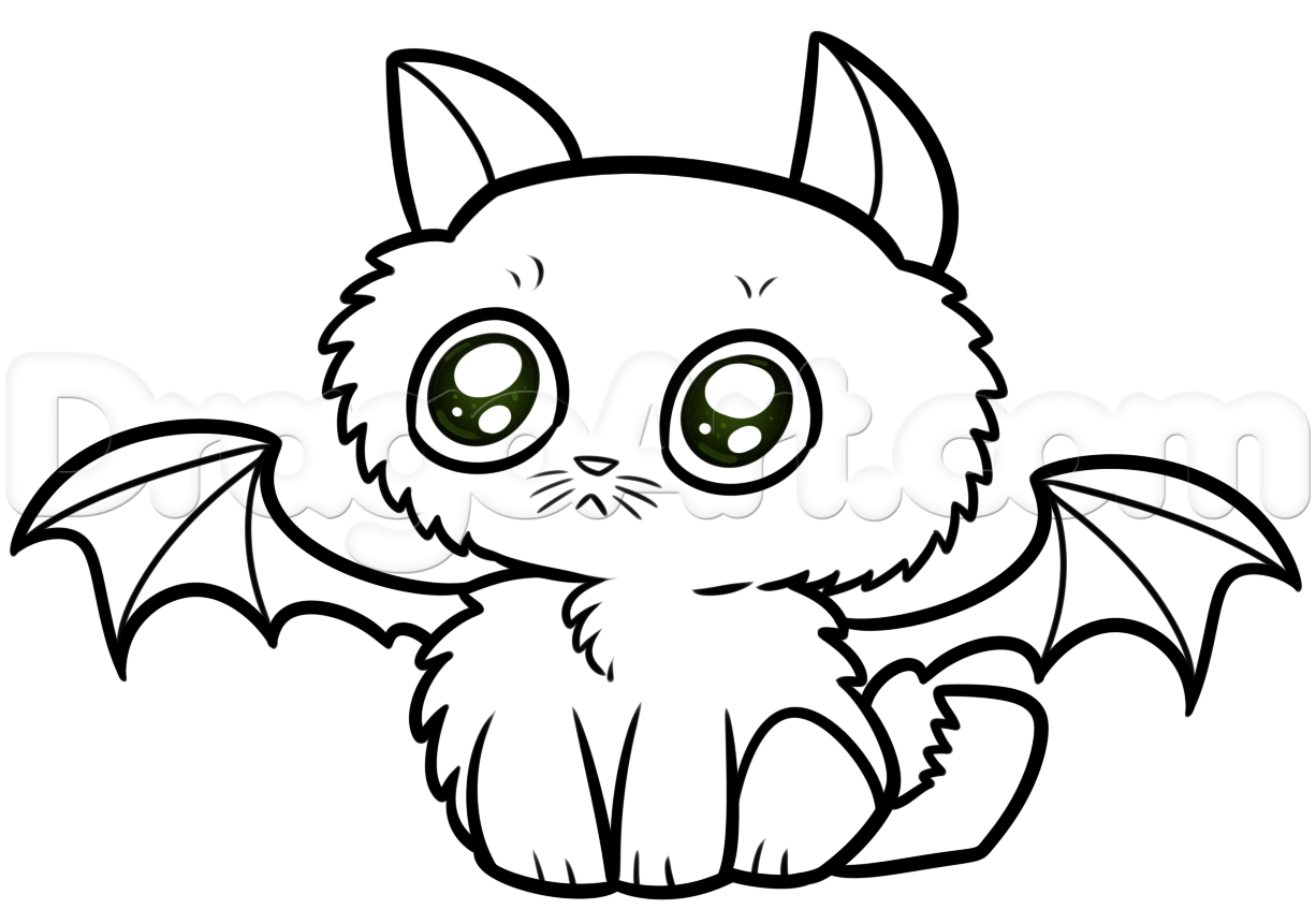 1226x861 Halloween Kitty Cat Drawing, Step by Step, Drawing Sheets, Added