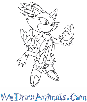 300x350 How to Draw Blaze The Cat
