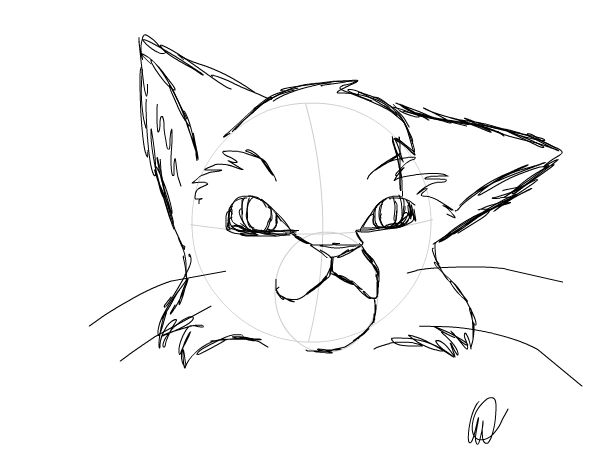 602x452 Warrior Cat Sketch