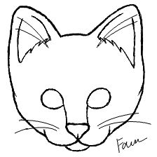 224x224 Drawn Feline Cat Face
