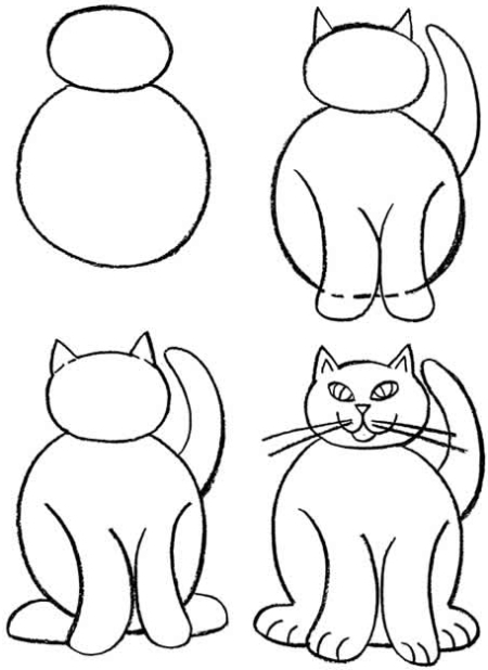 450x618 How To Draw Cats