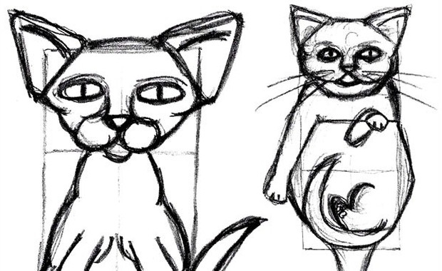 620x380 How To Draw A Cat