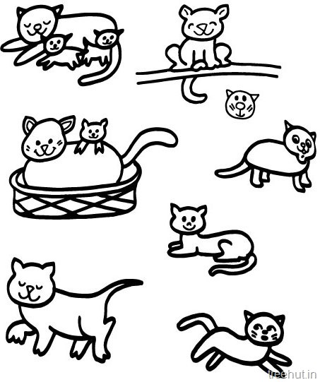 453x541 Cat Drawing And Coloring Pages For Kids