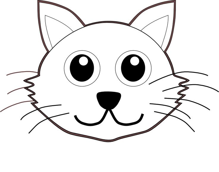 736x580 Cat Face Clipart Black And White