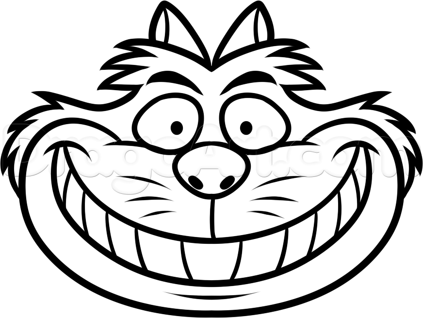 872x656 Cheshire Cat Clipart Black And White