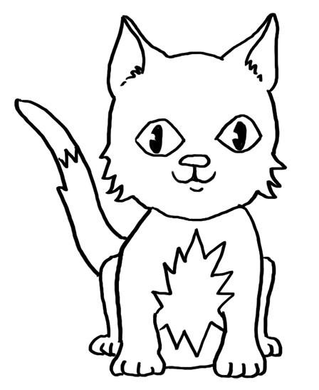 448x547 How To Draw A Cat