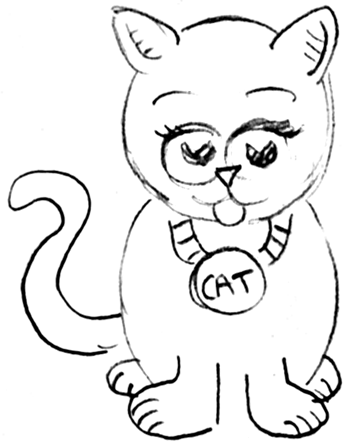 350x448 how to draw cartoon kittens cats with step by step drawing