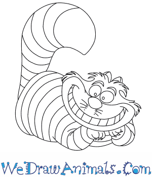 300x350 How To Draw Cheshire Cat