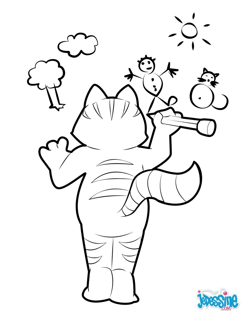 820x1060 This Artistic Cat Loves To Draw. Nice Cat Drawing For Kids. More