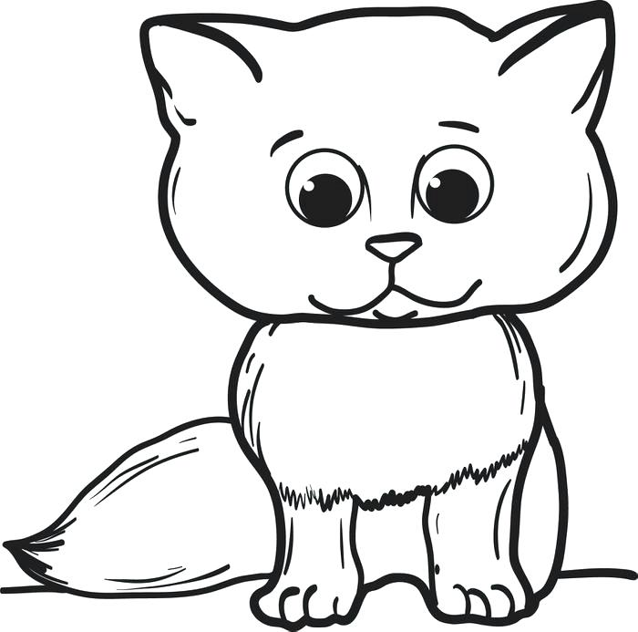 700x693 Cartoon Cat Coloring Pages Cartoon Cat Coloring Page Top Cat